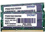 PATRIOT DDR3 ノートPC用メモリ SO-DIMM デュアルキット DDR3-1333 PC3-10600 8GB x2 CL9 1.5V PSD316G1333SK
