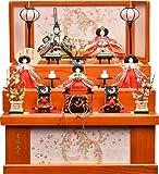 雛人形 吉徳大光 収納飾り 三段飾り 五人飾り 吉徳収納三段飾り 間口63×奥行55cm×高さ70cm