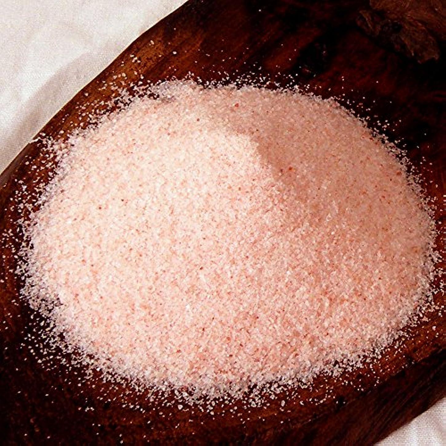 協力するすでに安息ヒマラヤ岩塩 バスソルト ローズソルト 溶けやすい細粒タイプ お試し1kg (ソルト内容量970g)