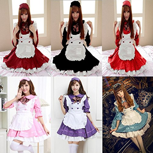CEXIN(セシン) レディース コスプレ衣装 lolita メイド服 コスプレ アリス風 コスチューム 仮装 学園祭 フリーサイズ