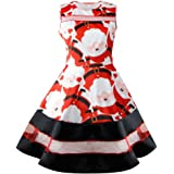 Gillberry Women's Dress Women's Vintage Printed Party Retro A-Line Swing Dress