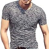 (メイク トゥ ビー) Make 2 Be メンズ ワイルド Tシャツ ミリタリー ストレッチ 薄手 KB66(01.Black_L)