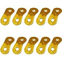 エリッゼ(ELLISSE) アルミ自在金具 10個入 ロープ径φ3.0-5.5mmまで対応 ALM-10