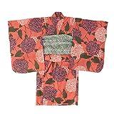 (オーシャンアンドグラウンド)Ocean&Ground Girl's浴衣簡単気付 XL ピンク