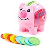 Fisher-Price CDG67 Laugh & Learn Smart Stages Piggy Bank, Cha-ching! Get ready to cash in on playtime fun and learning! Pink