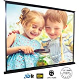 Outdoor Projector Screen, HD Projector Screen, Lightweight & Durable Waterproof Anti-Crease, Equipped with Quick Pull Out Sys