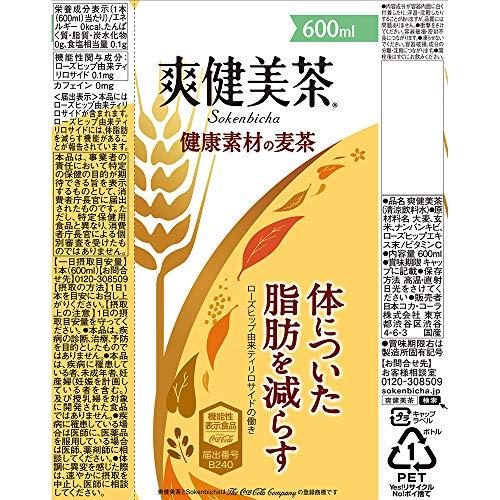 爽健美茶 健康素材の麦茶 お茶 ぺットボトル 600ml×24本 [機能性表示食品]