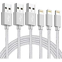 iPhone 充電ケーブル【Mfi_認証】【 3本セット 1m+2m+3m】急速充電 ライトニング USBケーブル デー…