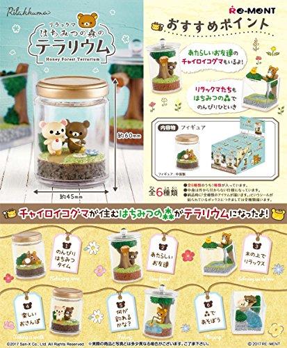 리락쿠마 벌꿀의 수풀의 유리 그릇 BOX상품 1BOX = 6개 들이,전6종류-- (2017-05-22)