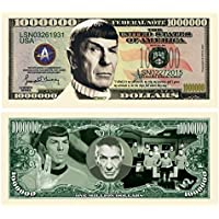 Set of 5 - Leonard Nimoy Star Trek Spock Collectible Million Dollar Bill [並行輸入品]