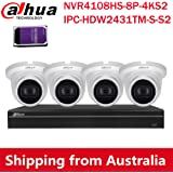 Dahua 8CH PoE Home Security Camera System, 4MP Starlight PoE IP Cameras with Build in MIC, 4K 8-Channel NVR(NVR4108HS-8P-4KS2
