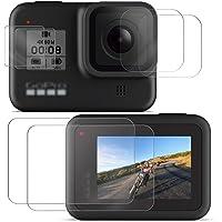 【Taisioner】GoPro HERO 8 BLACK専用強化ガラスフィルム スクリーン+レンズ+LED保護フィルムセット 耐衝撃 気泡ゼロ キズ防止 飛散防止 6枚入り2セット