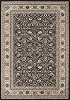 Momeni Rugs ROYALRY-02CHR9AD6 Royal Collection Power Loomed Traditional Area Rug 9'10 x 13'6 Charcoal [並行輸入品]