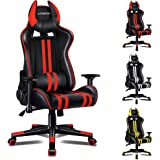 ALFORDSON Gaming Chair Racing Chair Executive Sport Office Chair with 4D Armrest and U-Shape Headrest PU Leather Home Chair(R