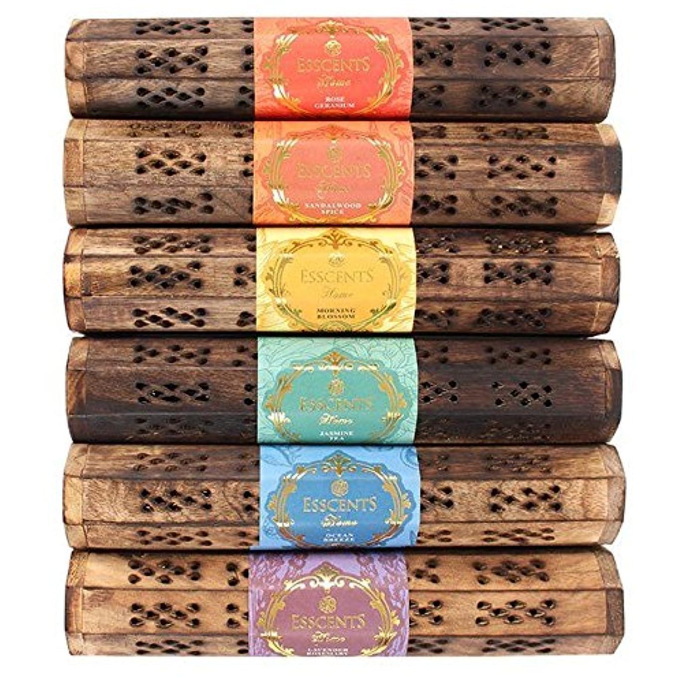 コンピューターマントルゆりかごEsscents Incense木製ギフトセット