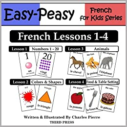 amazon co jp french lessons 1 4 numbers colors shapes animals