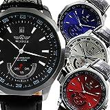 AC-W-BCG21 メンズ腕時計 バックスケルトン仕様 ビッグフェイス 自動巻き 腕時計 WINNER[ウィナー] [並行輸入品] レッド