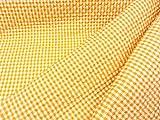 ギンガムチェック広幅(キルティング)オレンジイエロー(中格子6ミリピッチ幅)