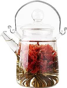 TEATSIGHT 工芸茶×10粒 縦型ティーポット 二層茶杯×2客 ラッピング済み お茶ギフトセットD