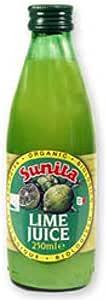 Sunita Org Lime Juice 250 ML (order 12 for retail outer) / スニタ組織ライムジュース250 ML(小売作者用のオーダ12 )