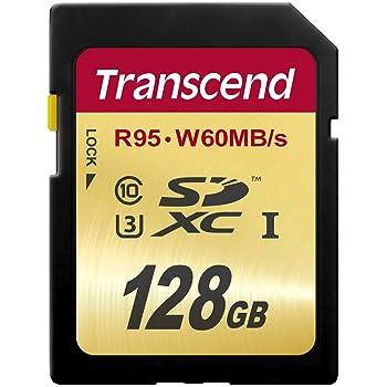 【Amazon.co.jp限定】 Transcend SDXCカード 128GB UHS-I U3対応 (最大読込速度95MB/s,最大書込速度60MB/s) U3シリーズ 4K動画撮影 [国内正規品] TS128GSDU3E (FFP)
