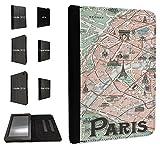 408–パリHistoricサイトマップデザインファッショントレンドTpuレザーフリップケースAmazon Kindle Fire HD 6インチ2014フルケースフリップTpuレザー財布ポーチDefenderスタンドカバー
