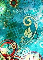 ポスター ウォールステッカー シール式ステッカー 飾り 594×841㎜ A1 写真 フォト 壁 インテリア おしゃれ 剥がせる wall sticker poster pa1wsxxxxx-012191-ds つた 模様 キラキラ