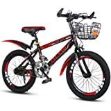 Children's Bicycle Mountain Bike Boy's Bike Girl's Bicycle 18〃/20〃/22〃 (Color : Red, Size : 18in)