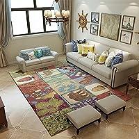 カーペット敷物ミニマリスト抽象的な近代的な形状ポリエステル余暇時間リビングルームベッドルームマットベッドルームステッチパターン (Size : 140 * 200CM, Style : A)