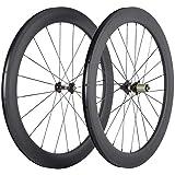 SunRise Bike Carbon Wheels 60mm Depth 25mm Width Clincher Wheelset 700c Road Cycling Rim