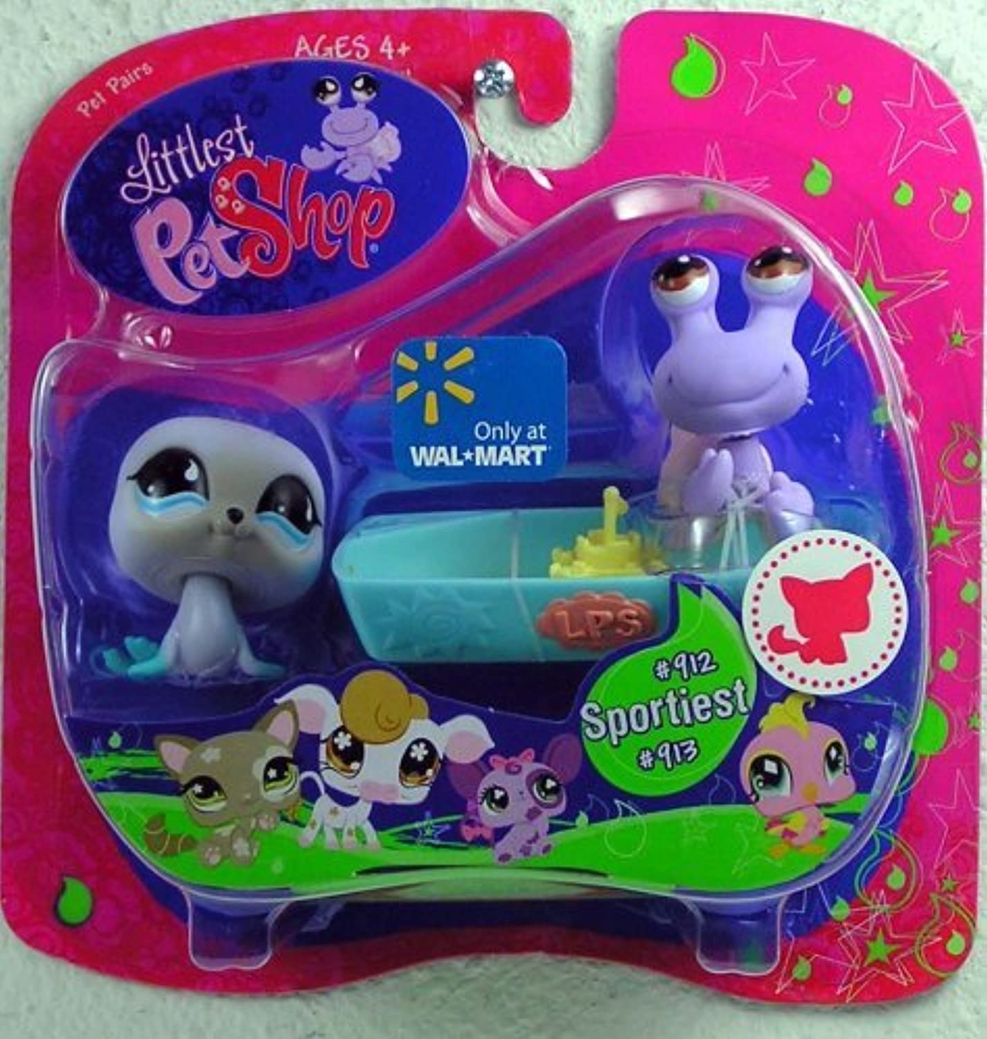 Littlest Pet Shop Exclusive Pet Pairs Figures Seal and Hermit Crab [並行輸入品]