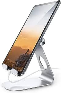 タブレット スタンド アルミ ホルダー 角度調整可能, Lomicall iPad用 stand : 卓上縦置きスタンド, タブレット置き台, デスク台, 立てる, 設置, aluminium, あいぱっと, タブレット対応(4~13''), アイフォン, アイパッド ミニ エア プロ, iPad, iPad mini, iPad Air, iPad Pro 9.7 10.2 10.5 11 12.9, S7 S8 Note 6, Huawei MediaPadに対応