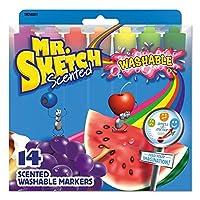 Mr。Sketch Washableマーカー、Chisel、アソートカラー、14ct。 2 Pack