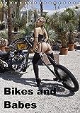 Bikes and Babes (Tischkalender 2018 DIN A5 hoch): Motorraeder und Maedchen (Monatskalender, 14 Seite