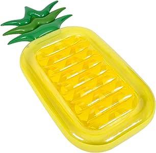 SHINING 浮き輪 大人用 足踏み式ポンプ贈り物無料 浮き輪ベッド ビーチボード 耐荷重150kg暑さ対策 プール・海・川 水泳用品 ベッド 可愛いデザイン (パイナップル型浮き輪 ベッド)