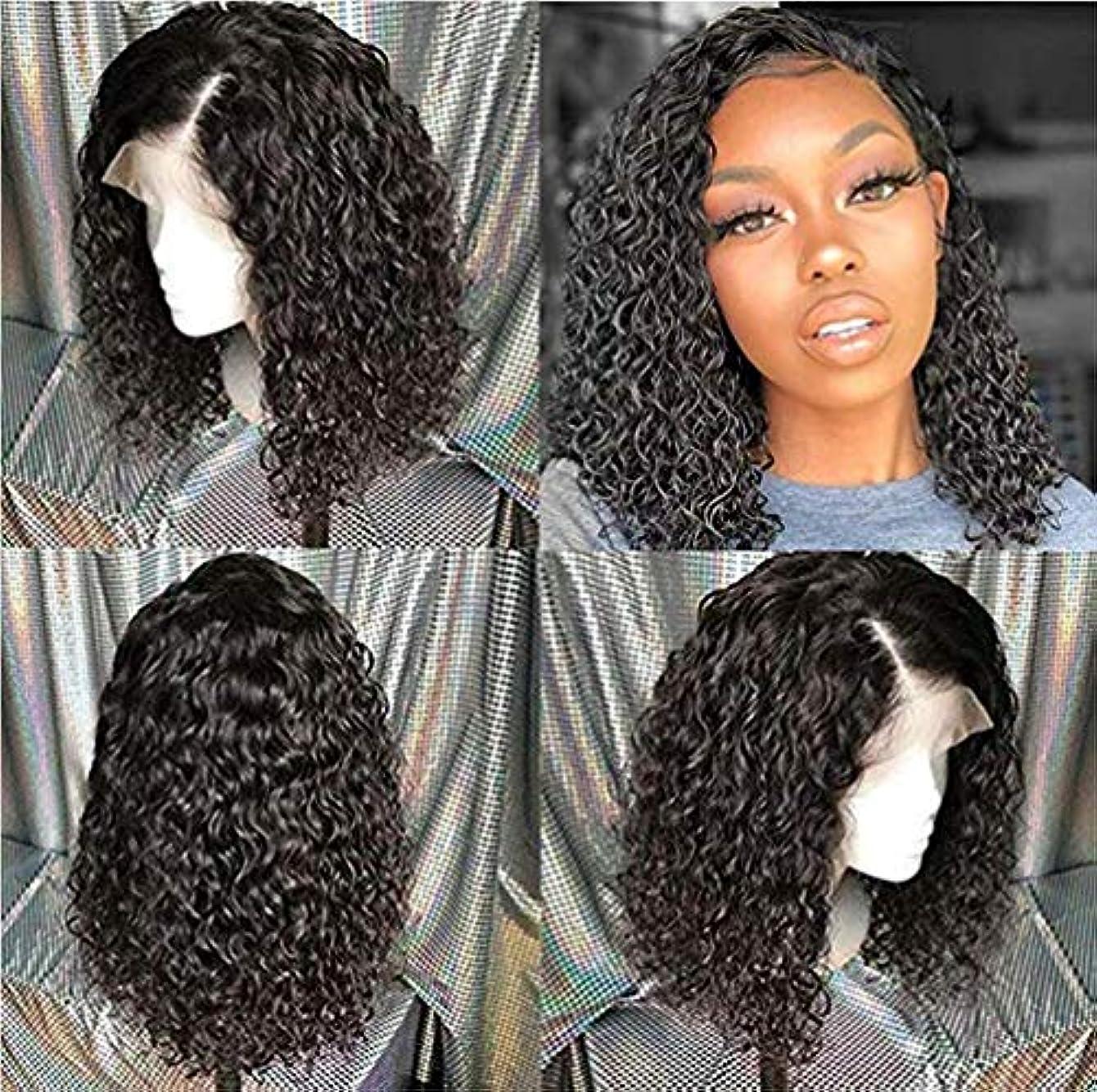 人気ののぞき穴サンダー女性用ウィッグディープウェーブレース前頭人毛女性用事前摘み取られた150%密度フルヘッド人毛エクステンションブラジル人毛