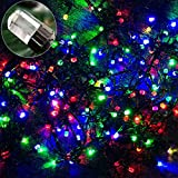 GOODGOODS クリスマス LED イルミネーション ライト 100球 10m 防雨防水屋外 クリスマスツリー 飾り LED電飾 多彩カラー LD-K7