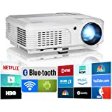 2019 Bluetooth Projector WiFi Android LCD LED Smart Video Projectors Home Theater 4400 Lumens Support HD 1080P Airplay HDMI U