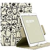 iPad Air2 ケース 360度回転 ESR iPad Air2 カバー レザー PU スタンド機能 軽量ケース 傷つけ防止 オートスリープ iPad Air2(2014年版)スマートカバー(犬の同窓会)