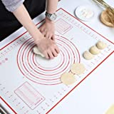 Silicone Baking Mat with Measurement & Size Conversion Charts, Home Baker Supplies for Rolling Dough Pastry Making Fondant Br