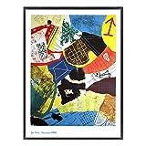 A.P.J. ポスター額装(現代アート) ジャン・ボス アスセンシオン1989 A2533 グラーノフレームブラック