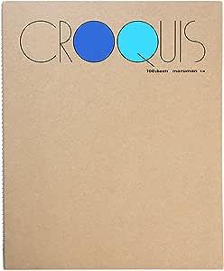 マルマン maruman スケッチブック クロッキー帳 白クロッキー紙 ブルー SM-02