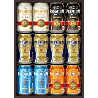 【中元ギフト好適品】ザ・プレミアム・モルツ ビールギフトセット 夏の限定5種 <輝(かがやき)  350ml×12本 YB30N