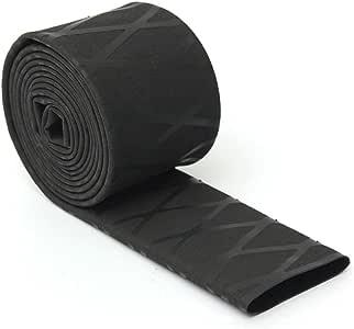 ROSENICE ノンスリップ 熱収縮ラップグリップ 100x3.3cm(ブラック)