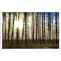 裸の森のティンサイン 金属看板 ポスター / Tin Sign Metal Poster of Bare Forest