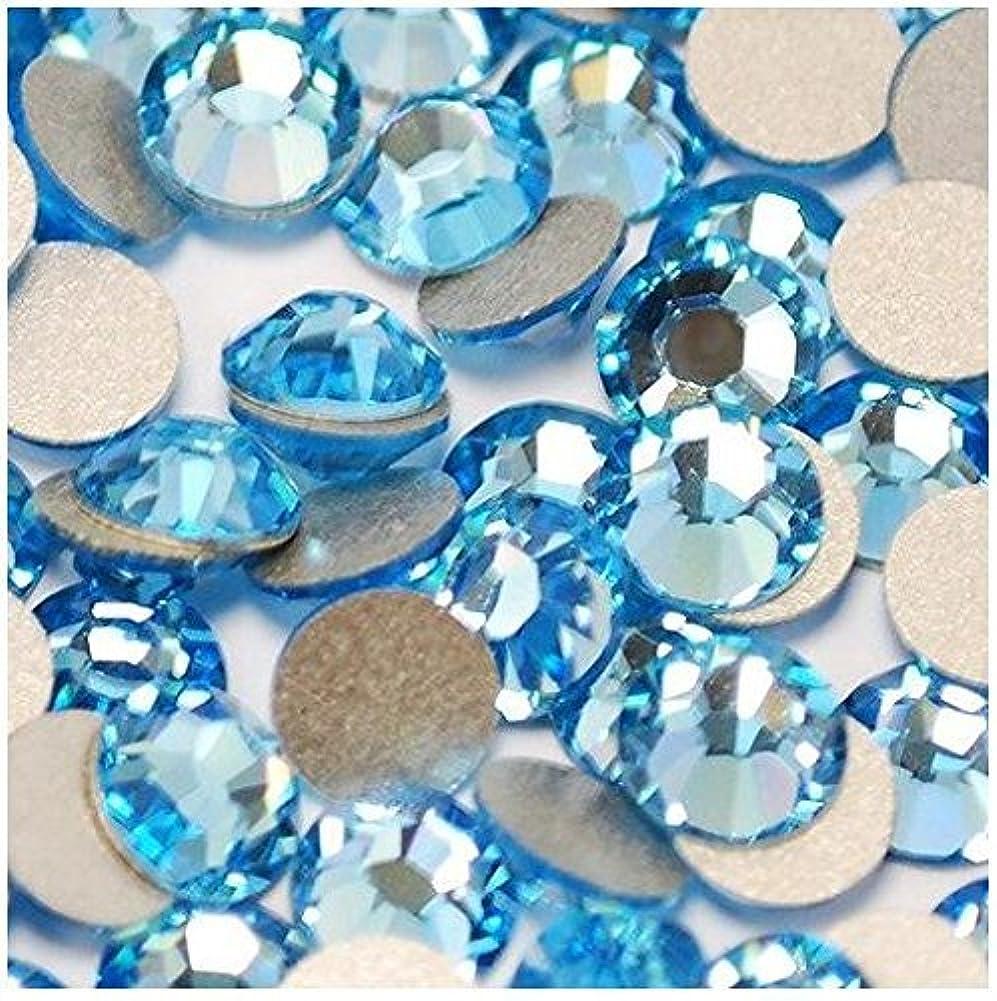 プライバシー雪だるま順応性ガラス製ラインストーン アクアマリン 各サイズ選択可能 (1.6mm (SS4) 約1440粒) [並行輸入品]