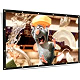 ELEPHAS 100 inches Projector Screen, 16:9 Aspect Ratio Portable Screen for Indoor and Outdoor, School Home Cinema 4K Foldable