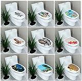 FanXi DIY デコレーション 便座 壁ステッカー 壁紙 紙 水中 世界 ビニール 取り外し可能 バスルーム ホームデコレーション
