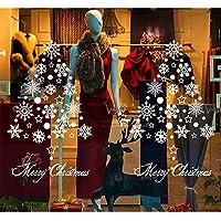 【ANION】ウォールステッカー クリスマス 冬 雪 くま ねこ 星 雲 貼って はがせる ディスプレイ ウィンドウ 窓 (雪・星)