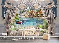 Weaeo カスタム壁紙3Dの壁紙の画像ヨーロッパのカーテンのリビングルームの家の装飾壁3Dの壁の壁画の壁紙3Dの壁紙-200X140cm
